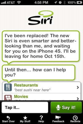 Siri application taken down from the App Store