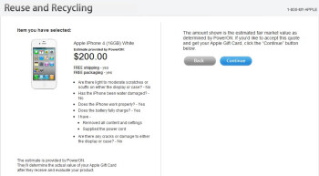 Apple's reuse and recycling program will give you $180 for your old 16GB iPhone 4