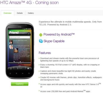 the HTC Amaze 4G is