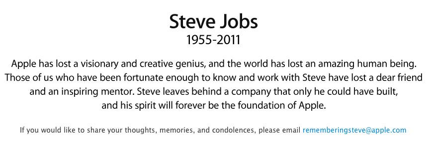 Steve Jobs has died