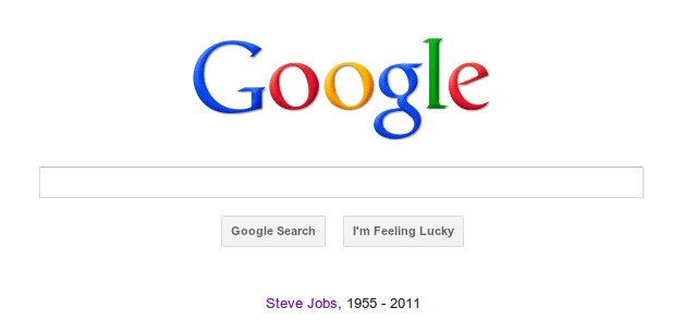 Steve Jobs is commemorated on the Internet including Google.com - The world responds to Steve Jobs' death