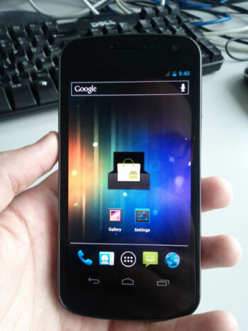 Samsung Nexus Prime gets full frontal exposure, Android Ice Cream Sandwich too