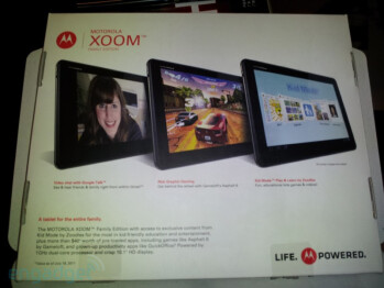 Motorola Xoom Family Edition MZ505 is a tablet for kids, coming soon