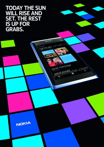 First ads for the Nokia 800 Windows Phone leak