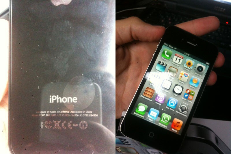 Images of the new Apple iPhone 4S box (L) and the phone itself (R) - German customer gets his Apple iPhone 4S delivered early