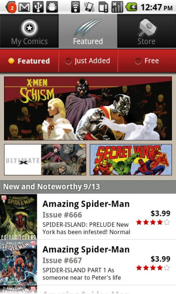 Marvel Comics app comes to Android phones and tablets