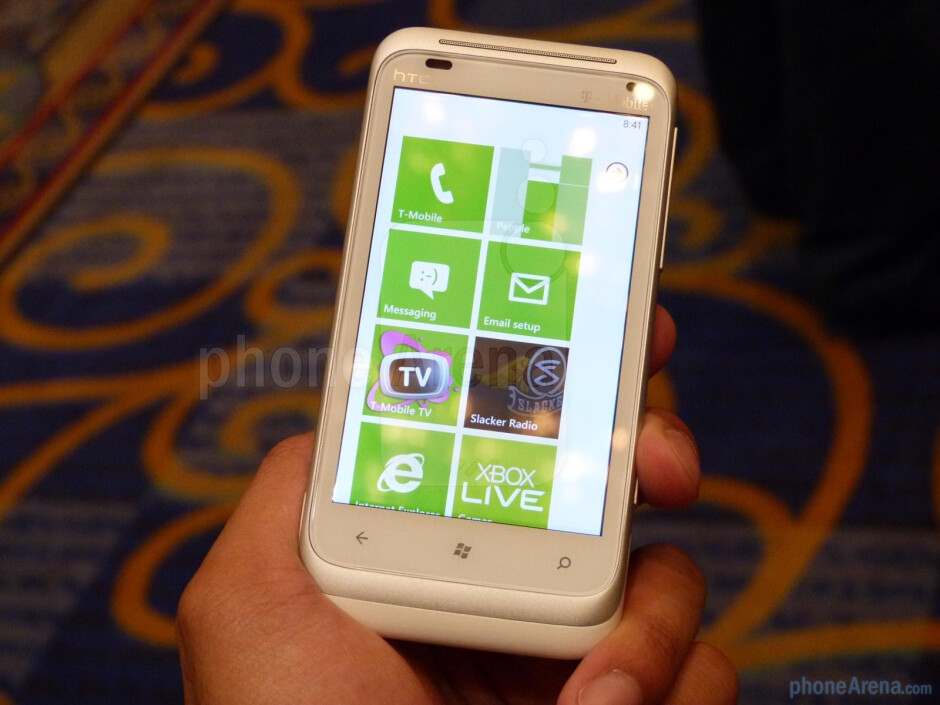 """The HTC Radar 4G flaunts a bright and vivid 3.8"""" WVGA LCD display to match its already shining luster - HTC Radar 4G Hands-on"""