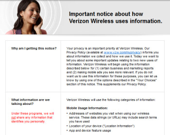 Verizon 's new policy statement allows them to keep customer information unless they opt-out