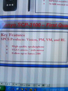 Sanyo is preparing entry level PM-3100 for Sprint PCS?