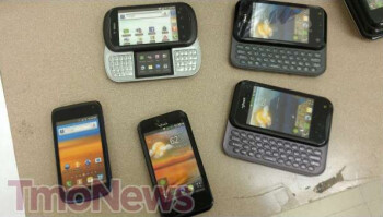 Dummy models of the T-Mobile myTouch , myTouch Q and LG Doubleplay have reached some T-Mobile locations