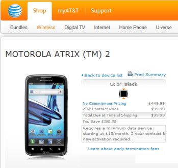 AT&T is launching today the Motorola ATRIX 2
