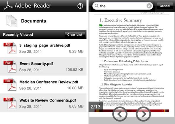 Adobe Reader finally arrives to iOS