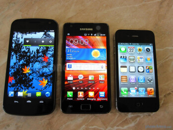 Next to the Galaxy S II and iPhone 4