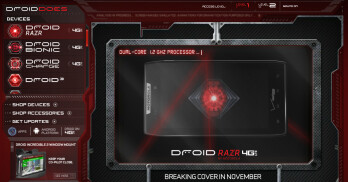 The Motorola DROID RAZR now appears on the DROIDDOES website