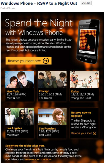 Windows Phone Inner Circle events and night parties in store across the US in the coming weeks