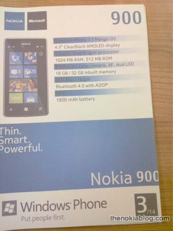 The Nokia 900