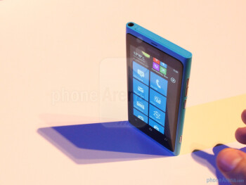 The Nokia Lumia 800 is a Windows Phone 7.5 device occupying an almost identical body to the N9