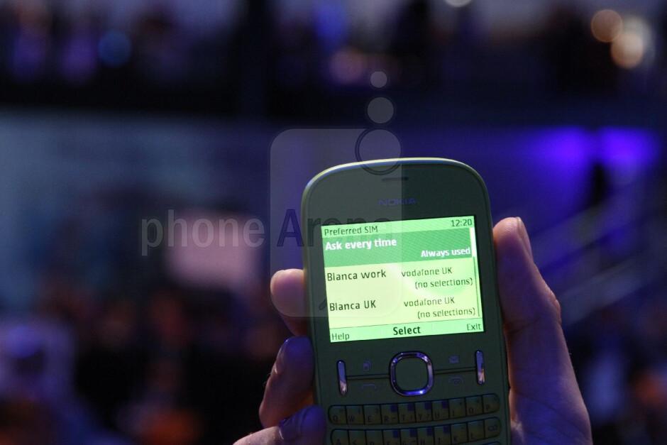 Nokia Asha 200 features dual-SIM functionality - Nokia Asha 200, 300 and 303 Hands-on