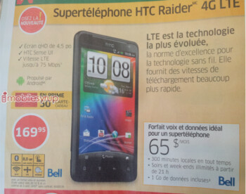The HTC Raider 4G LTE is coming to Bell and Rogers