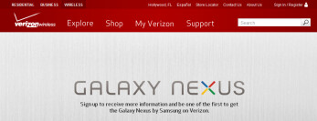 You can now sign-up to receive more information from Verizon on the Samsung GALAXY Nexus