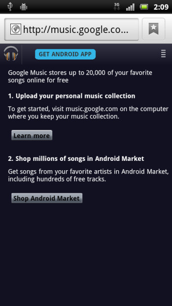Another sign that the Google Music Store is close to opening