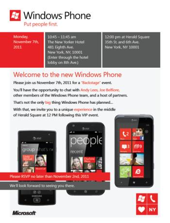 Microsoft to hold a Windows Phone event on November 7