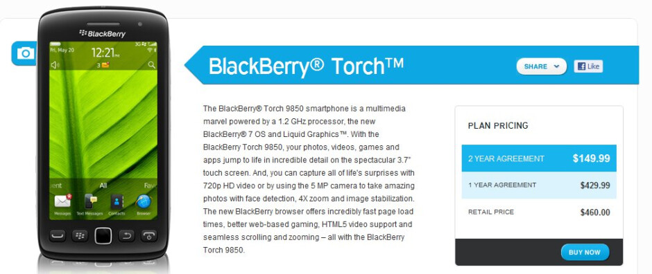 Bluegrass Cellular adds the BlackBerry Torch 9850 and Bold Touch 9930 to its lineup