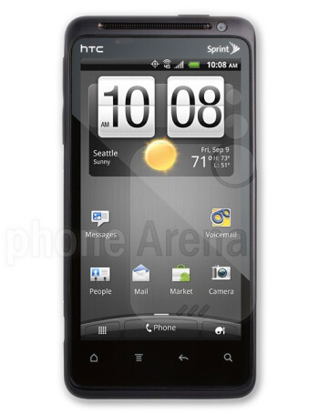 Walmart incorrectly shows the HTC Hero (follow arrow) and the real HTC EVO Design 4G (R)