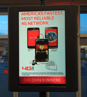 This in-store display at Verizon shows off the unannounced HTC Rezound
