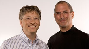 Tech titans Gates and Jobs