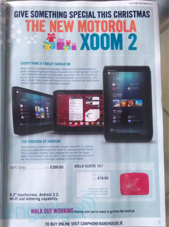 The Motorola XOOM 2 ME positioned as a holiday gift