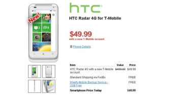 HTC Radar 4G quickly goes for half the cost at $49.99 on-contract thanks to Wirefly