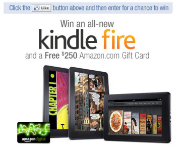 Amazon is giving away 10 Kindle Fire tablets along with a $250 Gift Card