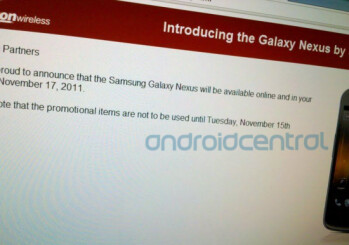 Samsung Galaxy Nexus might land on Verizon November 17