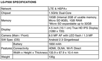 LG Optimus LTE confirmed for Canada: exclusive on Bell, $629 off-contract