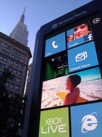The Big Windows Phone now stands in the middle of Herald Square in New York City