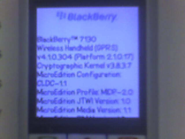 Blackberry 7130c is for Cingular?