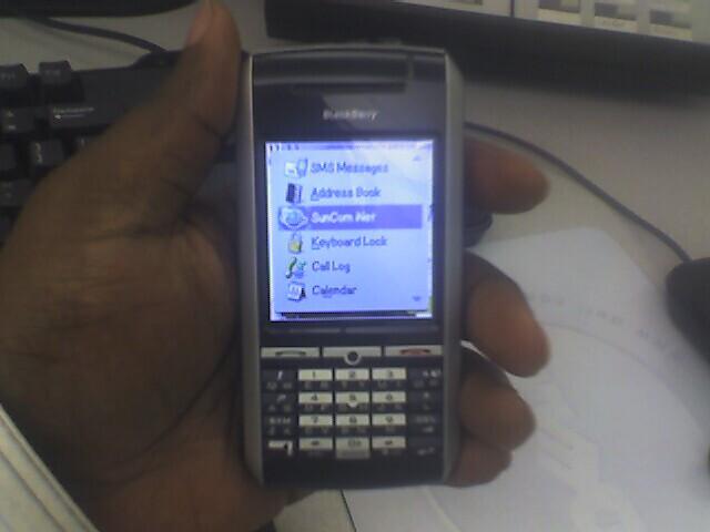 Blackberry pin hookup