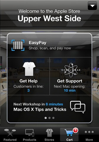 The Apple Store app for iOS has been updated to version 2.0