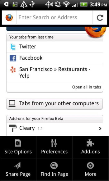 Firefox 8 for Android