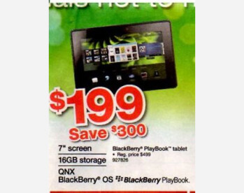 Staples is having a Black Friday sale on the BlackBerry PlayBook