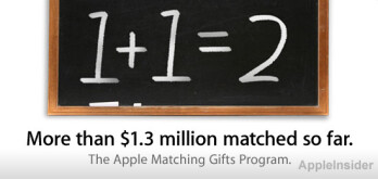 Apple has donated a total of over $2.6 million so far since the Matching Gifts program kicked off