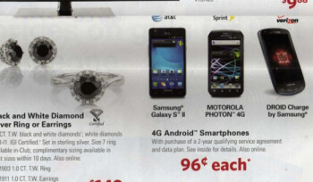 A leaked ad for Sam's Club shows that the membership warehouse club will offer three great smartphones for just 96 cents after a signed contract, on Black Friday