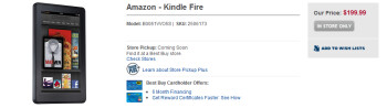 In Best Buy stores on November 15th, the Amazon Kindle Fire