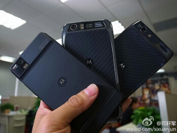 Motorola DROID RAZR for China Mobile (middle) gets a 13MP camera and HD screen