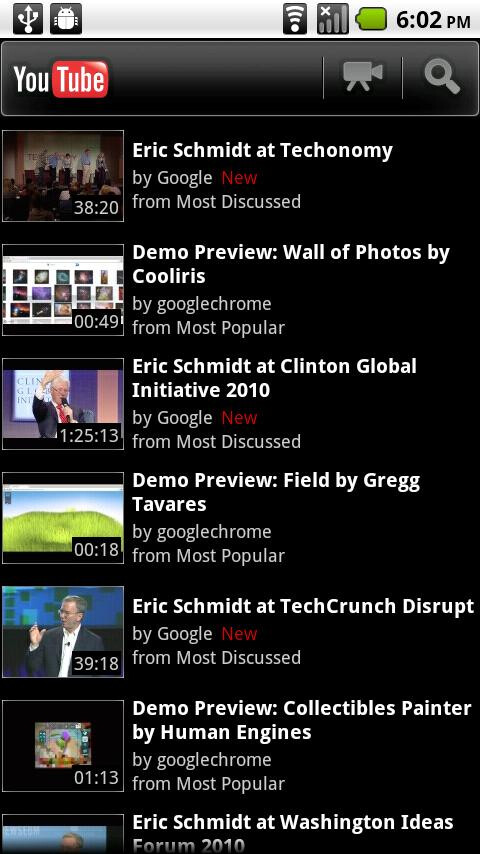 The new update for the YouTube app in the Android Market includes annotations, +1 button and more - YouTube update brings new features to video app
