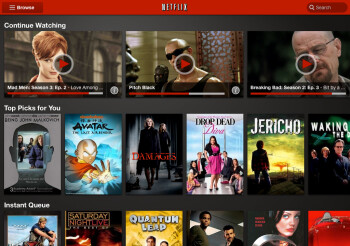 Netflix refreshes its tablet app looks, Kindle Fire and Nook Tablet getting the update as well