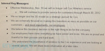 Cox abandoning cellphone sales as early as Nov. 16th