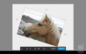 Adobe Photoshop Touch is designed around the idea of being highly productive