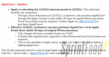 Apple extends option to purchase AppleCare+ until December 15, 2011